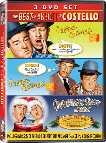 The Best of Abbott & Costello 3PK - IN COLOR! - Funniest Routines Vol 1, Funniest Routines Vol 2, & The Christmas Show