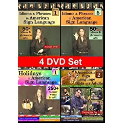 Everyday American Sign Language 4-DVD Set, Vol. 1