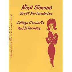 Nina Simone Great Performances: College Concerts and Interviews PAL