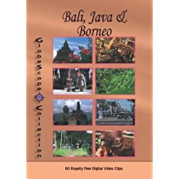 The Globescope Collection  Indonesia: Bali, Java & Boreno Royalty Free Stock Footage
