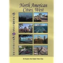 The Globescope Collection  North American Cities, West Royalty Free Stock Footage