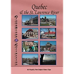 The Globescope Collection  Quebec & the St. Lawrence River - Royalty Free Stock Footage