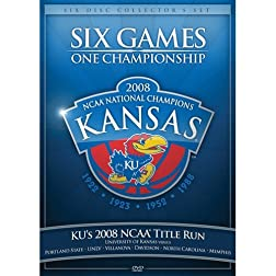 2008 Kansas NCAA Title Run Six Games One Championship