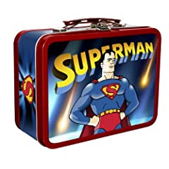 Superman Cartoons Collectable Tin with Handle