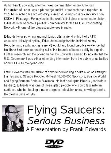 Flying Saucers: Serious Business