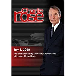 Charlie Rose - President Obama's trip to Russia /  Alistair Horne  (July 7, 2009)