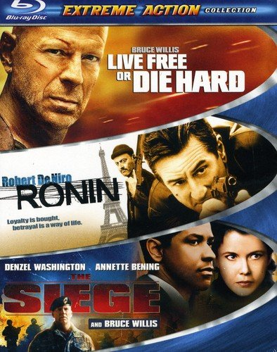 Extreme Action 3-Pack (Live Free or Die Hard / Ronin / The Siege) [Blu-ray]