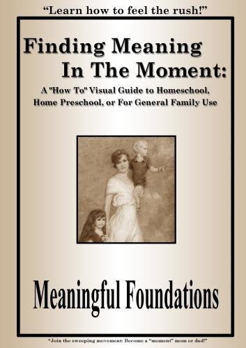"Finding Meaning In The Moment:  A ""How To"" Visual Guide to Homeschool or Home Preschool"