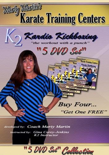 Marty Martin's K2 Kardio Kickboxing workout routines DVD Collection One-Five