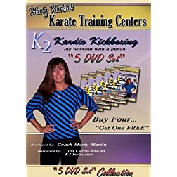 Marty Martin's K2 Kardio Kickboxing workout routines DVD Collection Six-Ten