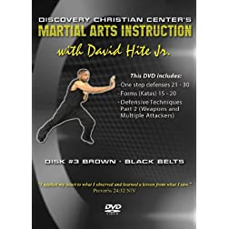 Martial Arts Instruction with David Hite Jr. - Brown/Black Belts