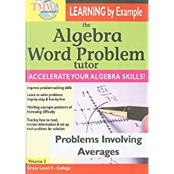 The Algebra Word Problem Tutor: Problems Involving Averages