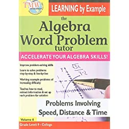 The Algebra Word Problem Tutor: Problems Involving Speed, Distance & Time