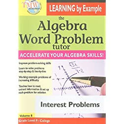 The Algebra Word Problem Tutor: Interest Problems