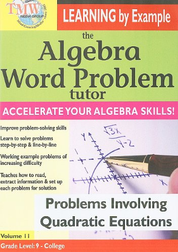The Algebra Word Problem Tutor: Problems Involving Quadratic Equations