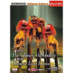 Chinese Acrobatics And Chinese Lion Dance