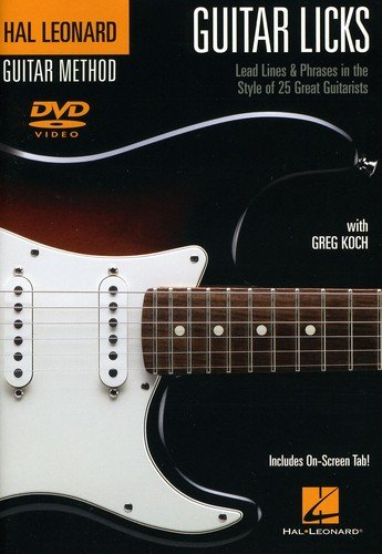 Guitar Licks - Lead Lines & Phrases In The Style Of 25 Great Guitarists (DVD)