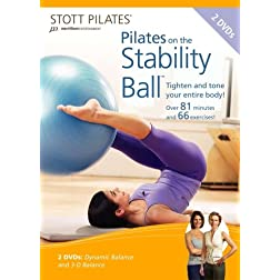 STOTT PILATES: Pilates On The Stability Ball 2 Pack