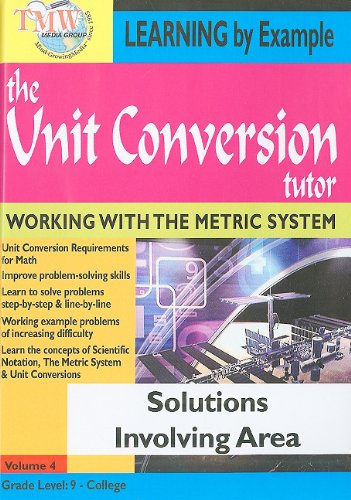 The Unit Conversion Tutor: Solutions Involving Area