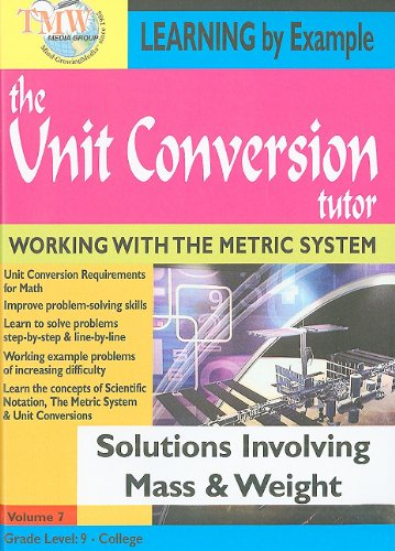 The Unit Conversion Tutor: Solutions Involving Mass & Weight