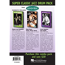 Super Classic Jazz Drum Pack 3-DVD Jazz Drummers-Gene Krupa-Lionel Hampton DVDs