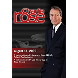 Charlie Rose - Alexander Karp / Elon Musk (August 11, 2009)
