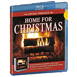 Virtual Fireplace: Home for Christmas [Blu-ray]