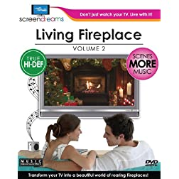 Screen Dreams: Living Fireplace, Vol. 2 [Blu-ray]
