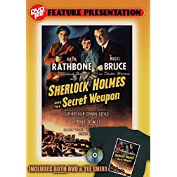 Sherlock Holmes and the Secret Weapon DVDTee (Size L)