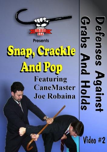 Cane Self Defense DVD - Snap, Crackle, POP. Defense Against Grabs and Holds