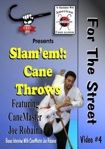 Cane Self Defense DVD. Slem'em! Cane Throws for the Street