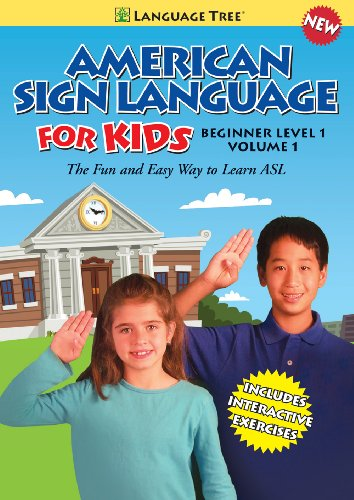 American Sign Language for Kids: Learn ASL Beginner Level 1, Vol. 1 (w/ booklet)