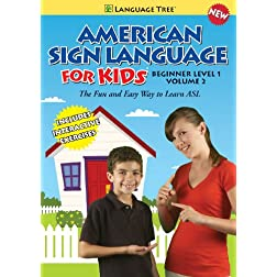 American Sign Language for Kids: Learn ASL Beginner Level 1, Vol. 2 (w/ booklet)