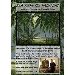 Seascape Oil Painting 204 - Paint Florida Highwaymen Style