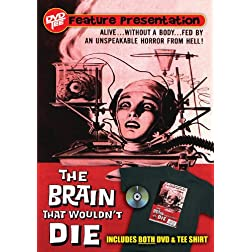 The Brain that Wouldn't Die DVDTee (Size XL)