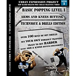 Popping Dance Level 1 Arm and Knees Technique and Drill Edition