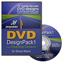 DVD Case Templates Design Pack 1 for PhotoShop Elements