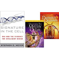 Signature in the Cell - Darwins Dilemma - Unlocking the Mystery of Life Book & 2-DVD Set