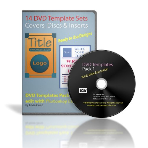 14 DVD Template Sets Pack 1 for Photoshop Elements