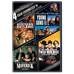 Western Collection: 4 Film Favorites (American Outlaws / Young Guns II / Maverick / Wild Wild West)