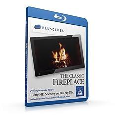 BluScenes: The Classic Fireplace 1080p HD Blu-ray Disc [Blu-ray]