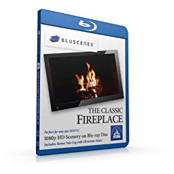 BluScenes: The Classic Fireplace 1080p HD Blu-ray Disc [Blu-ray]