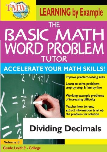 The Basic Math Word Problem Tutor: Dividing Decimals