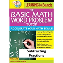 The Basic Math Word Problem Tutor: Subtracting Fractions