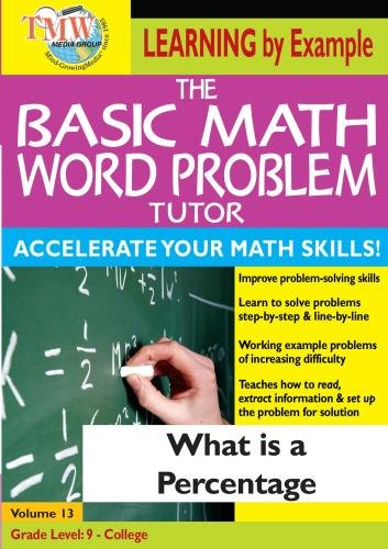 The Basic Math Word Problem Tutor: What Is a Percentage?