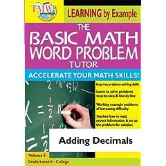 The Basic Math Word Problem Tutor: Adding Decimals