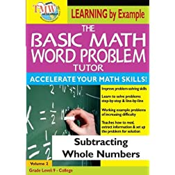 The Basic Math Word Problem Tutor: Subtracting Whole Numbers