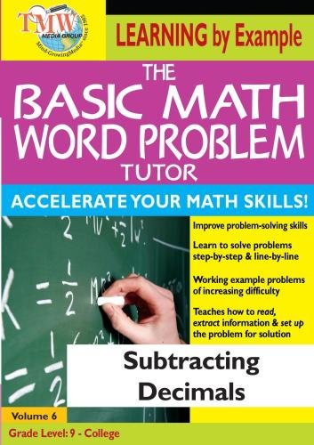 The Basic Math Word Problem Tutor: Subtracting Decimals