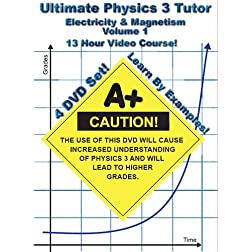 Ultimate Physics 3 Tutor - Electricity and Magnetism Series - Volume 1 - 4 DVD Set! - 13 Hour Course!
