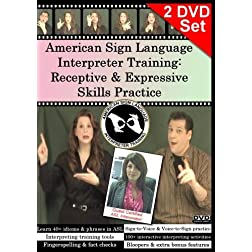 American Sign Language Interpreter Training: Receptive & Expressive Skills Practice Set, Vol. 1